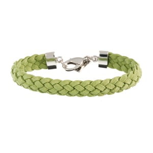 Náramek Strand braided silver, grass green