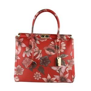 Červená kožená kabelka Matilde Costa Sapporo