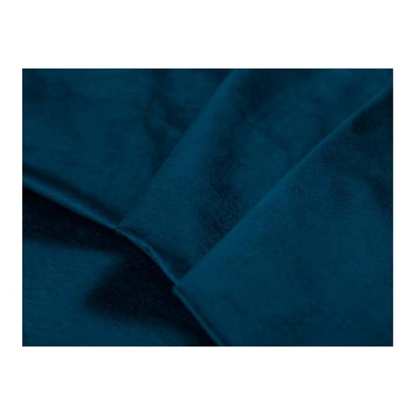 Královsky modrá rozkládací rohová pohovka se sametovým potahem Windsor & Co Sofas Astre, pravýroh