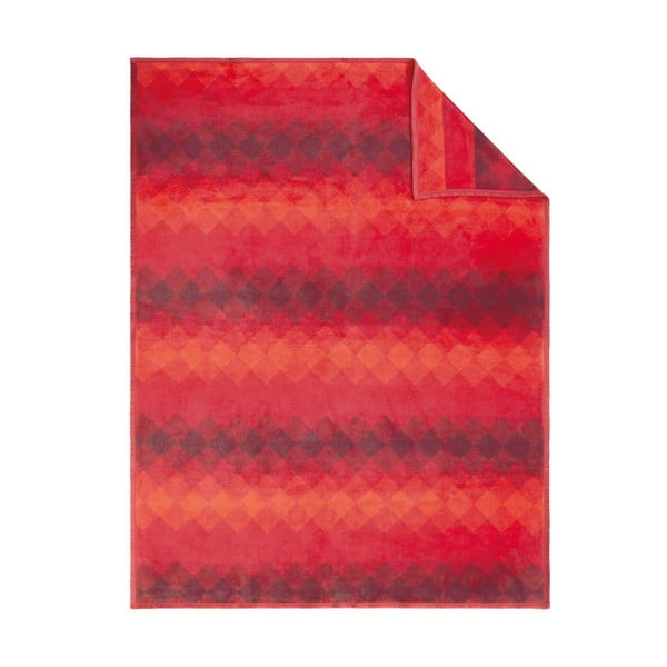 Deka Ombre, 150x200 cm, červená