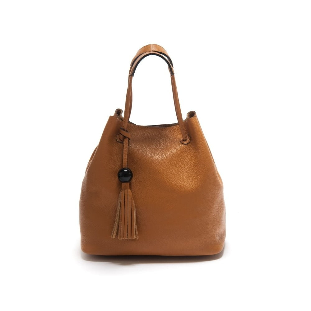 Hnědá kožená kabelka Isabella Rhea Sorbus