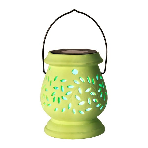 Lucerna Solar Energy Clay Lantern Green