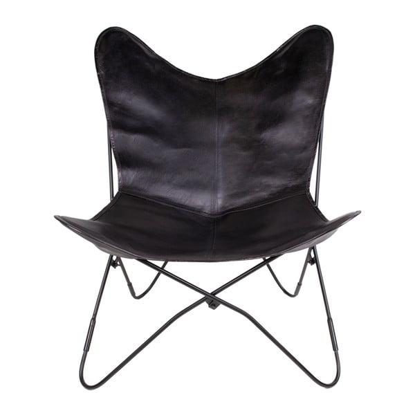 Czarne krzesło skórzane House Nordic Colombo