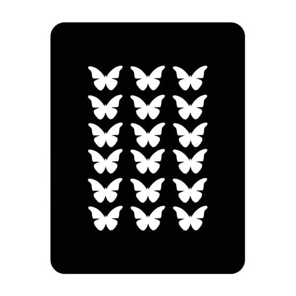 Ścienna dekoracja świetlna Butterfly, 67x82 cm