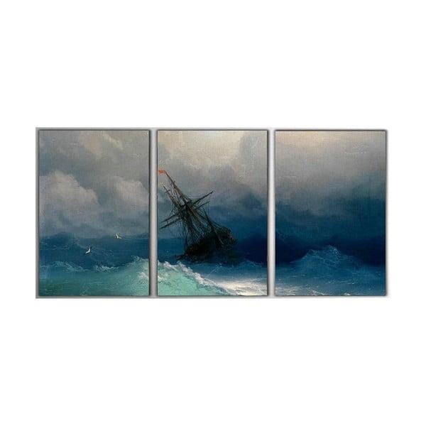 3dílný obraz Storm, 45x90 cm
