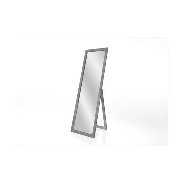 Stojací zrcadlo s šedým rámem Styler Sicilia, 46 x 146 cm