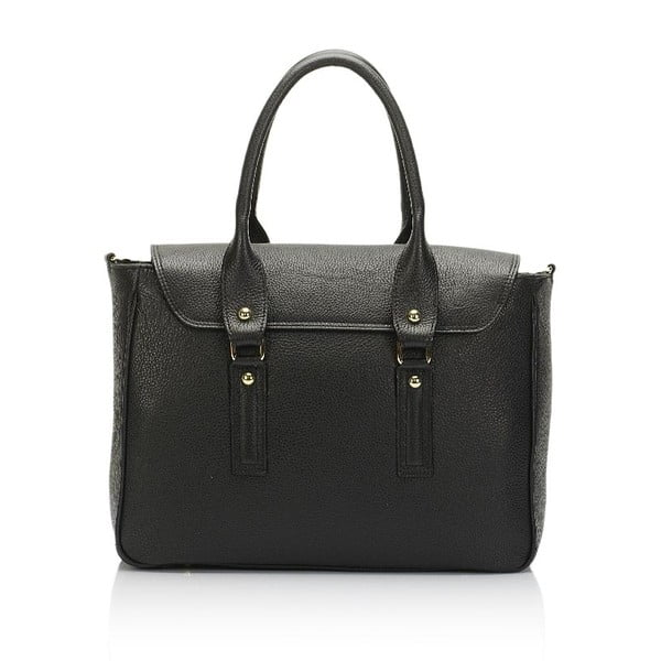Kožená kabelka Guilia Massari 9001 Black