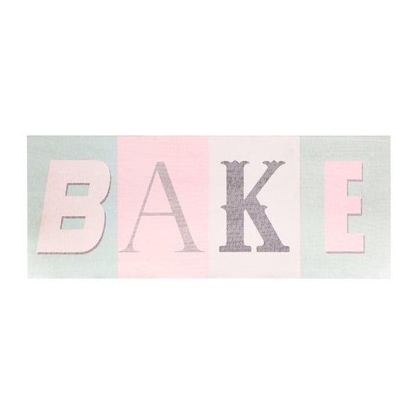 Dřevěný obraz Bake, 38x15 cm