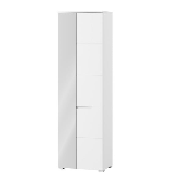 Vysoká dvoudveřová skříňka se zrcadlem Szynaka Meble Selene