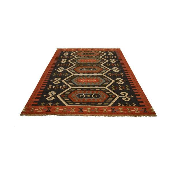 Ručně tkaný koberec Orange Brown Persians, 140x200 cm