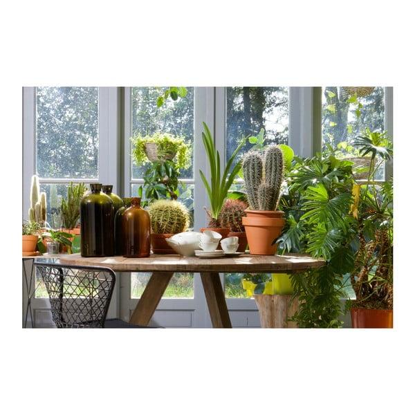 Tmavě zelená skleněná váza De Eekhoorn Chemistry, výška30cm
