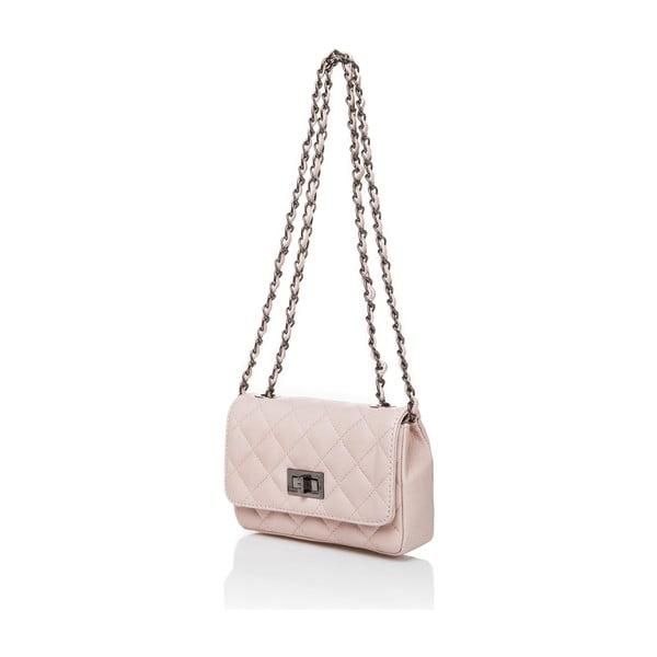 Kožená kabelka Shawi, růžová