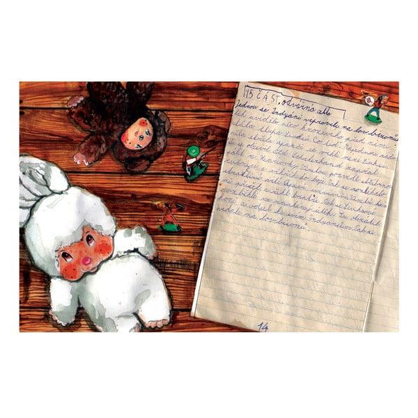 Autorský plakát od Toy Box Vinnetou pozvedl stříbrnou ručnici a vykřikl Do boje!, 60x92 cm