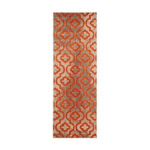 Vysoce odolný běhoun Floorita Evergreen Grey Orange, 70 x 275 cm