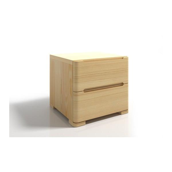 Noptieră din lemn de pin cu 2 sertare SKANDICA Sparta