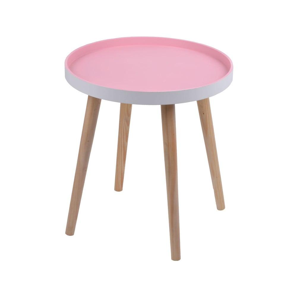 Růžový stolek Ewax Simple Table, 48 cm