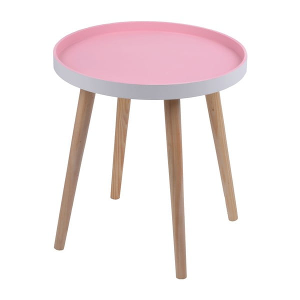 Růžový stolek Ewax Simple Table, 48 cm
