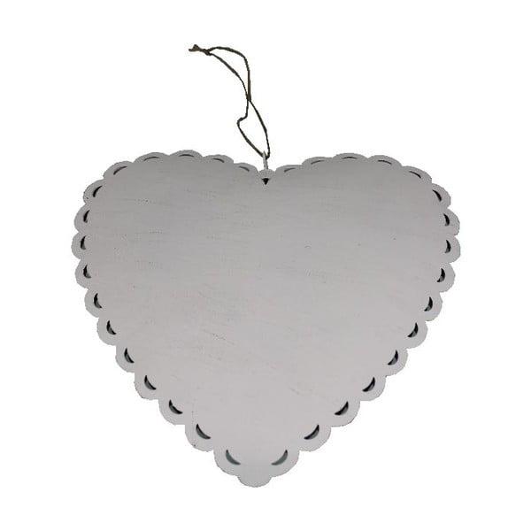 Závěsná dekorace Antic LineRomantic Heart, šířka28 cm
