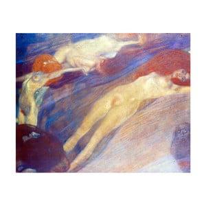 Gustav Klimt - obraz Moving Water, 100x80 cm