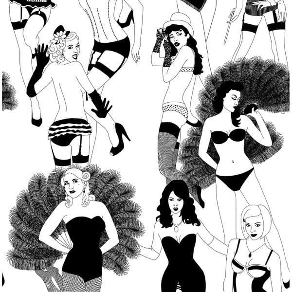 Tapeta Burlesque, 1000x52 cm