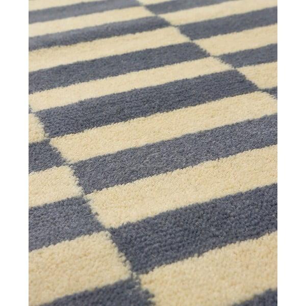 Vlněný koberec Oslo no.2, 140x200 cm, šedý