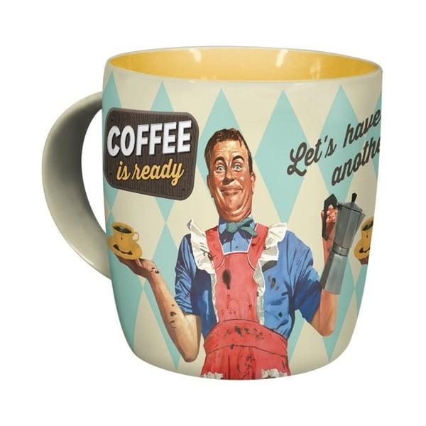 Keramický hrnek Coffee is Ready, 330 ml