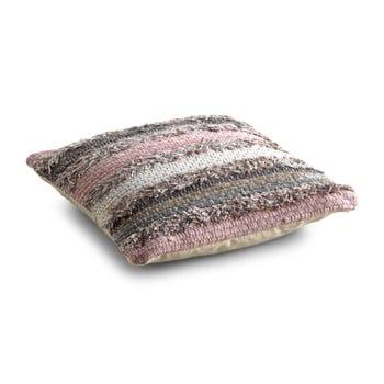 Pernă texturată cu umplutură Geese Ceylon, 45x 45 cm, gri – roz de la Geese
