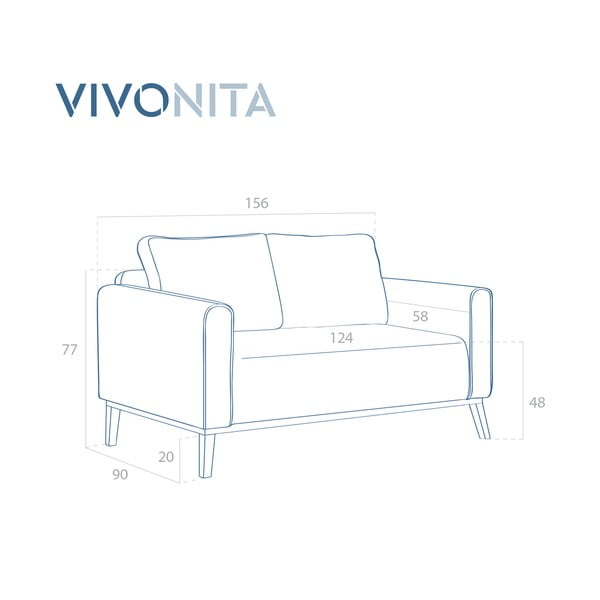 Pudrově růžová 2místná sedačka Vivonita Milton Trend