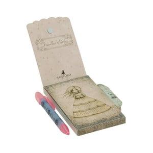 Set zápisníku s magnetickým zapínáním a pera Santoro London Mirabelle Travellers Rest
