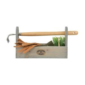 Set přepravky z borovicového dřeva na nářadí a hrabiček Esschert Design