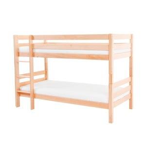 Dětská patrová postel z masivního bukového dřeva Mobi furniture Mark, 200x90cm