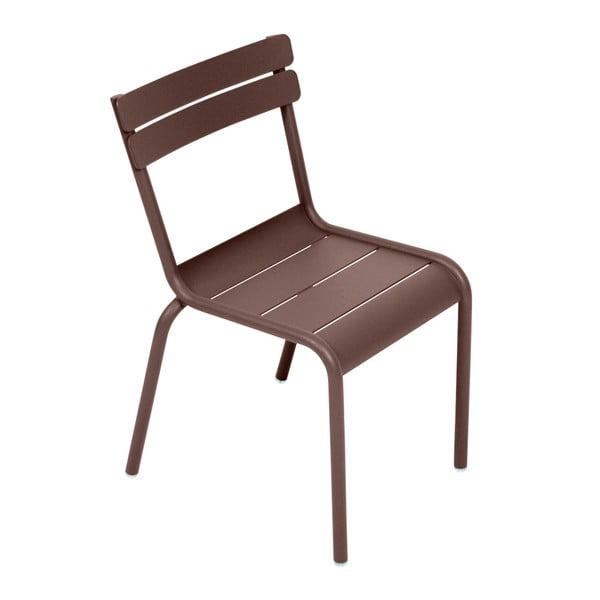 Hnědá dětská židle Fermob Luxembourg