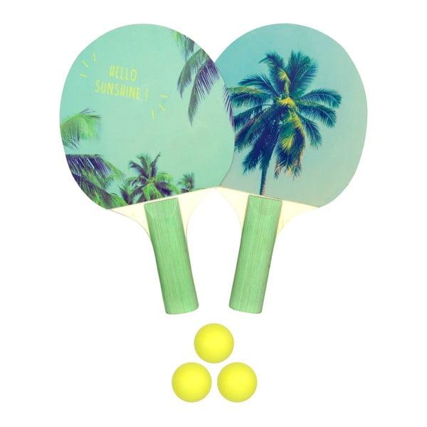 Set 2 pingpongových pálek a míčků Le Studio Ping Pong Rackets