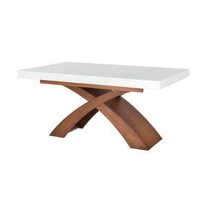 Rozkládací jídelní stůl s bílou deskou Durbas Style Galaxy,160x100cm