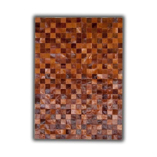Koberec z pravé kůže Brown Tones, 140x200 cm