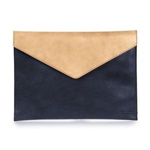 """Béžovo-modrý kožený obal na notebook 13"""" ve tvaru obálky O My Bag Office"""