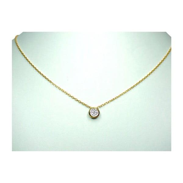 Náhrdelník s diamantem, zlatý