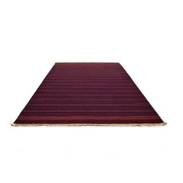 Ručně tkaný koberec Purple Pink Stripes, 140x200 cm