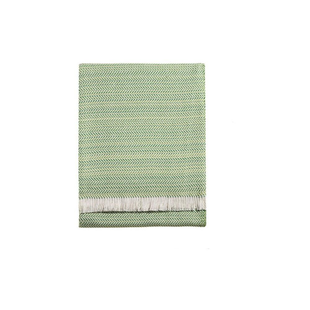 Světle zelená deka Euromant Toscana, 140 x 250 cm