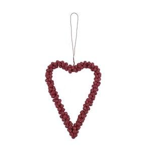 Závěsná dekorace Ego Dekor Srdce z rolniček, červené