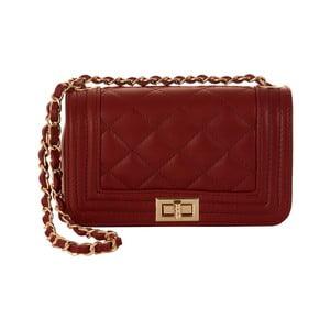 Červená kabelka z pravé kůže Andrea Cardone Elena
