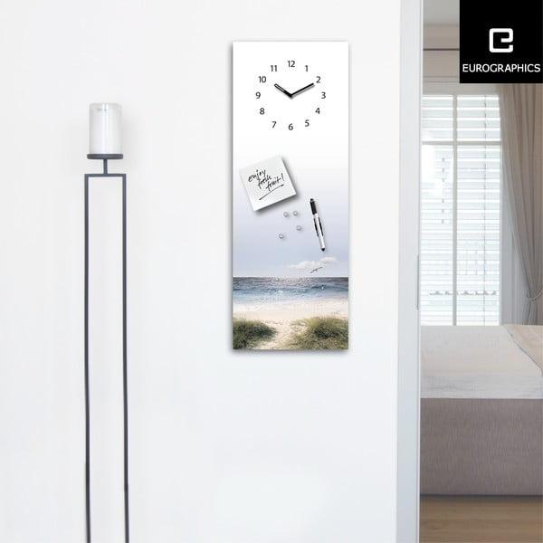 Magnetická tabule s hodinami Eurographics Maverick, 30x80cm