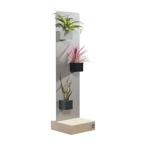 Podstavec pro magnetické květináče, světle šedý, 14x50 cm