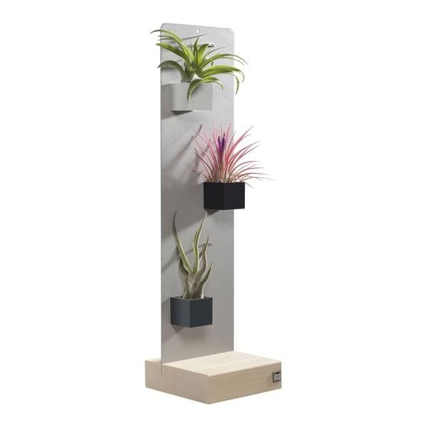 Podstavec pro magnetické květináče, šedý, 14x50 cm