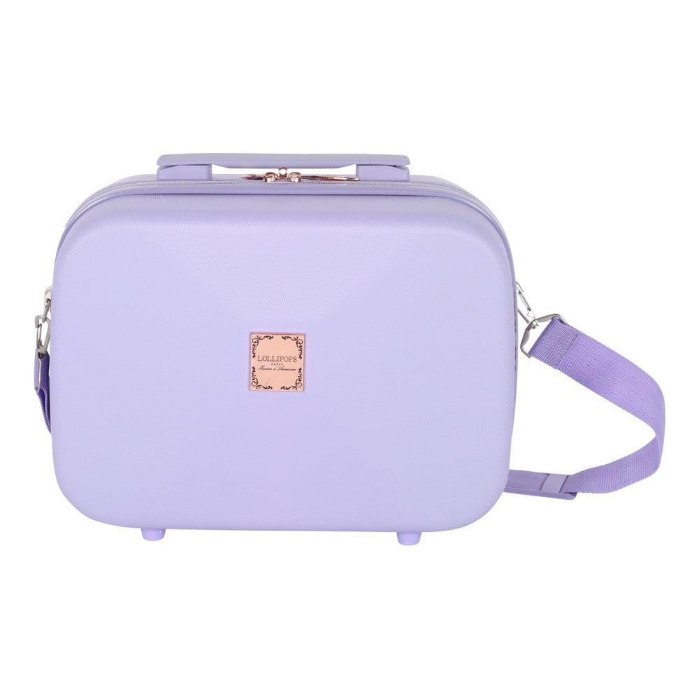 Světle fialový příruční kufr LULU CASTAGNETTE Jasobm 17l