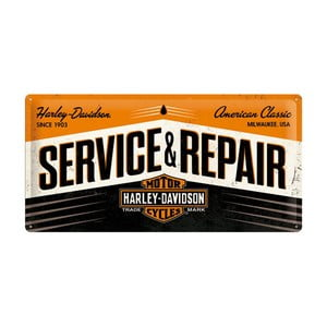 Plechová cedule Service and Repair, 25x50 cm