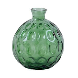 Zelená skleněná váza z recyklovaného skla Ego Dekor Dune, výška 18 cm
