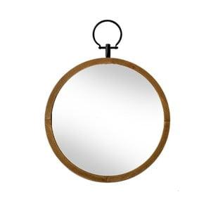 Zrcadlo s dřevěným rámem Red Cartel, Ø 50 cm