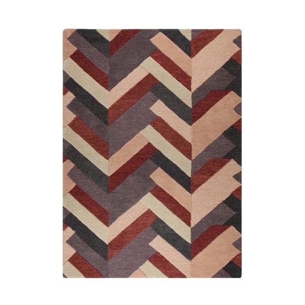 Covor țesut manual Flair Rugs Salon, 160 x 230 cm, roșu - gri