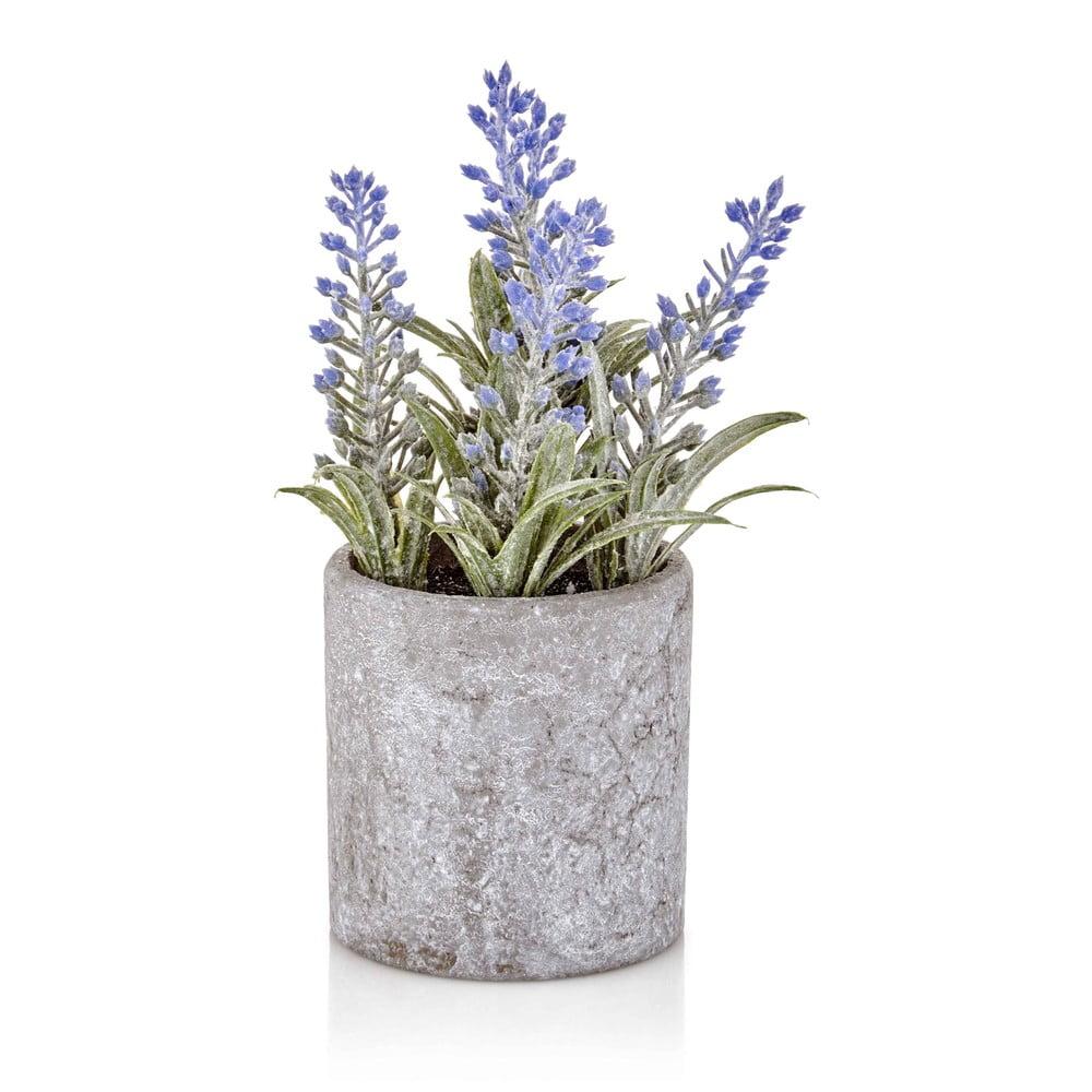 Umělá levandule v betonovém květináči The Mia Provence